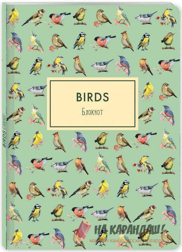 Блокнот А4 40л МП Birds 90165-4 птицы