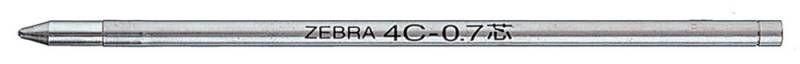 Стержень шарик Zebra 4C 0.7мм черн BR-8A-4C-BK