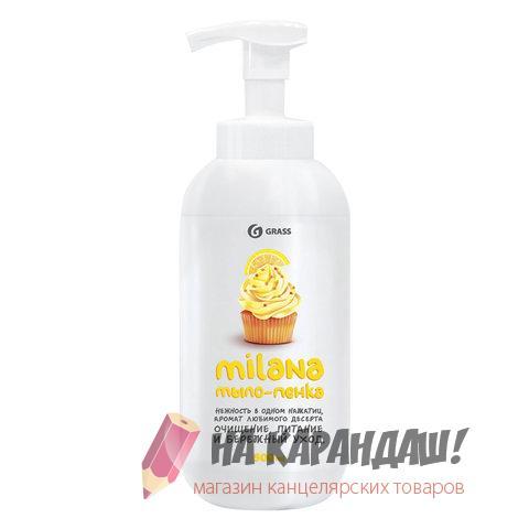 Мыло-пена жидкое 500мл с/доз GRASS Milana Лимонный пирог 605604 шк28069