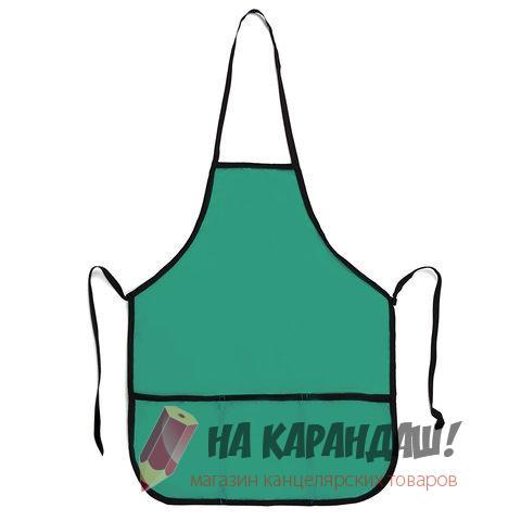 Фартук с карм 55*44см Пифагор 227247 зеленый