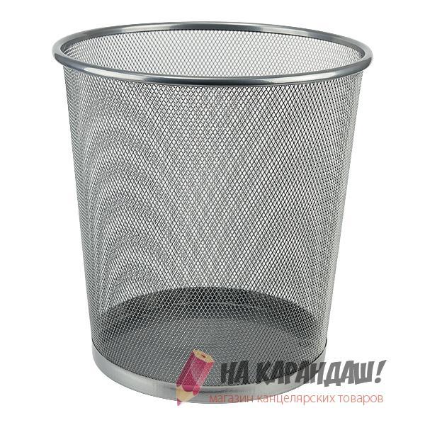 Корзина для бумаг мет D280мм круг сереб AX2119-03