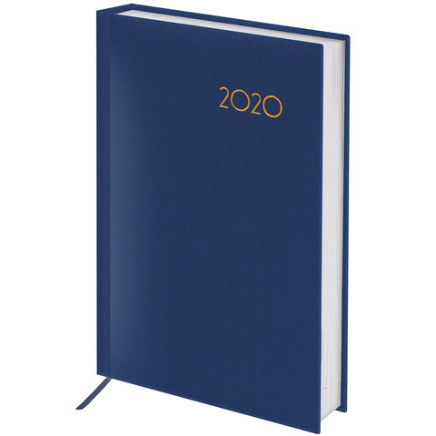 Ежедневник датир на 2020г А6 Brauberg Wood 129754 синий
