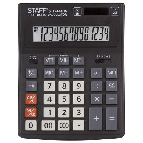 Калькулятор наст Staff 14раз 154*200мм STF-333 250416