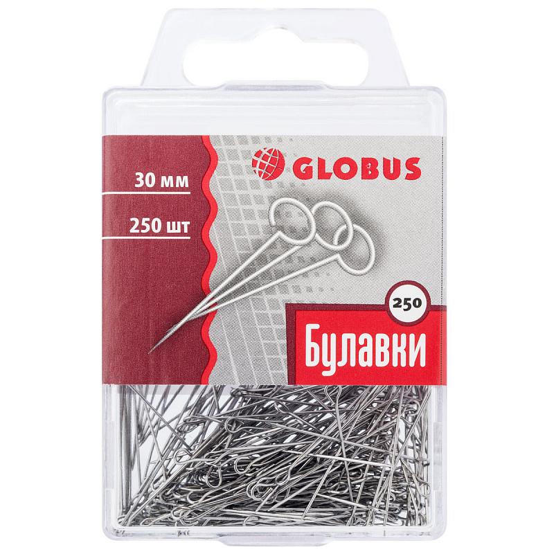 Булавки 30мм 250шт/уп Globus пл БЗ0-250