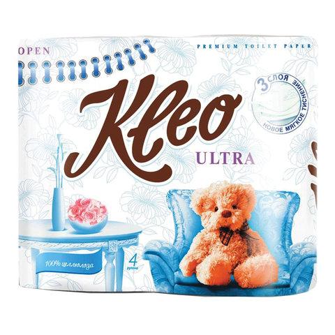Туалетная бумага с/в 3сл 20м бел 4шт/уп KLEO Ultra шк30824 111333