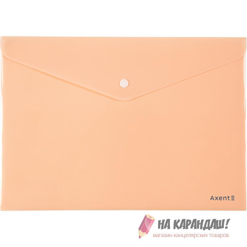 Конверт н/кн А4 AX1412-42 Pastelini 180мк н/пр персик /12/