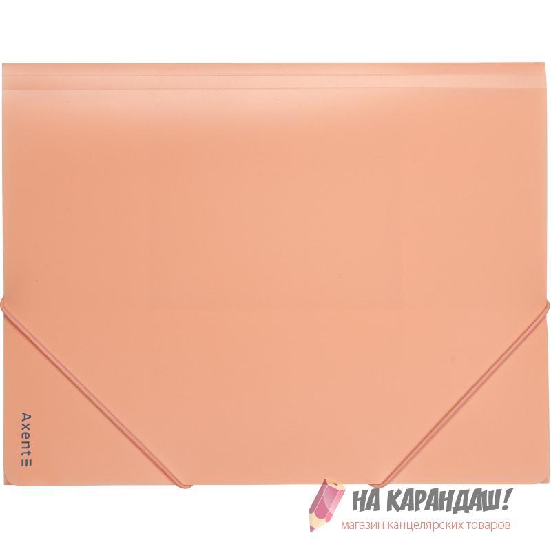 Папка н/рез А4 Axent Pastelini 1504-42 430мк 35мм н/пр персик