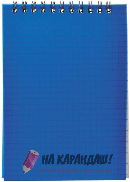 Блокнот А6 н/сп 40л кл ПО SNPcl-6/40bu-1 А20282 синий
