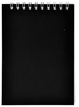 Блокнот А7 н/сп 40л кл ПО SNPcl-7/40bk-1 А20285 черный