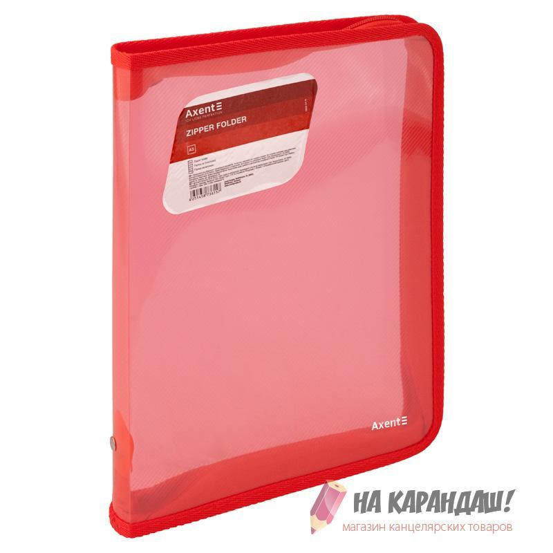 Папка-пенал н/молн B5 Axent 1802-24 красн