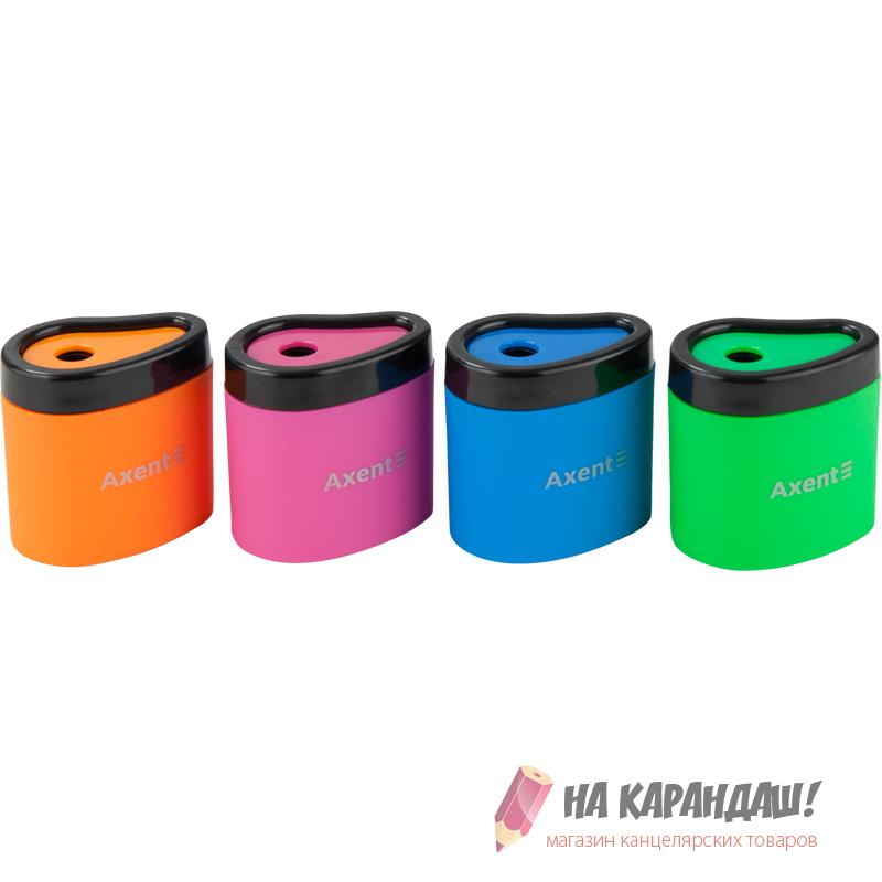 Точилка с/к Axent AX1158 Neon soft /12/