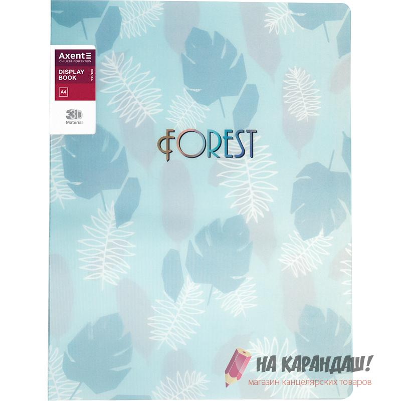 Папка 20ф AX-1320-16 Forest 3D пл бирюз /24/
