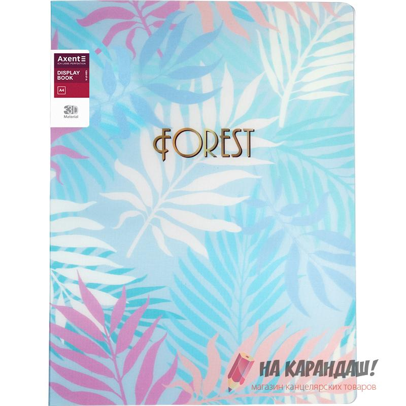 Папка 20ф AX-1320-07 Forest 3D пл голубая /24/
