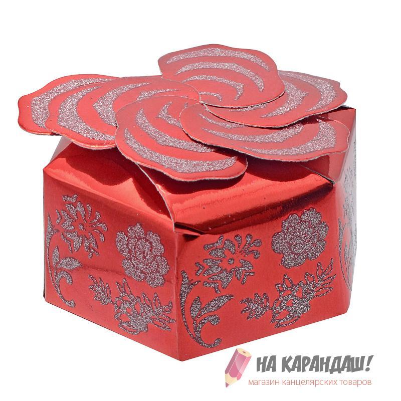 Коробка подар складная 103*103*48мм PW7826