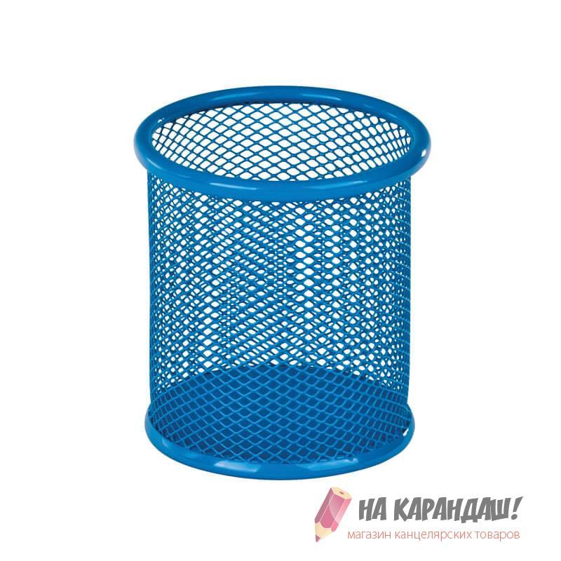 Стакан д/оф предм мет K17-2110-07 кругл синий