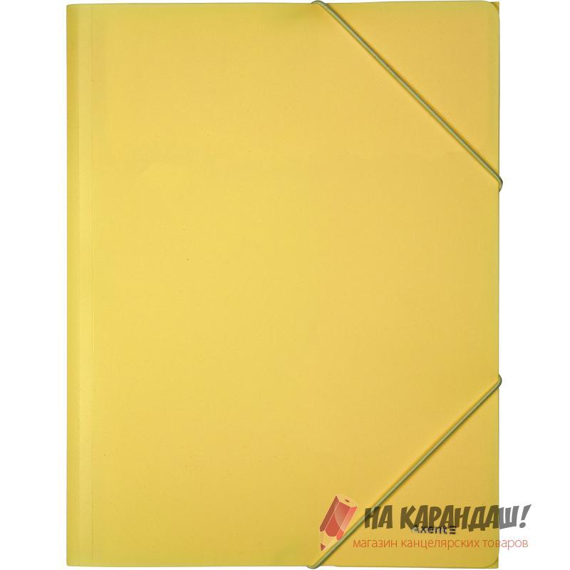 Папка н/рез А4 Axent Pastelini 1504-26 430мк 35мм н/пр желтая