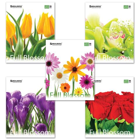 Тетрадь 96кл Brauberg Цветы 401845