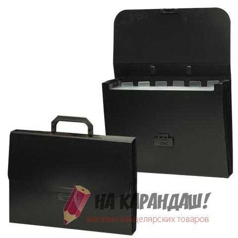 Портфель А4 7отд Brauberg 221204 черный пласт.
