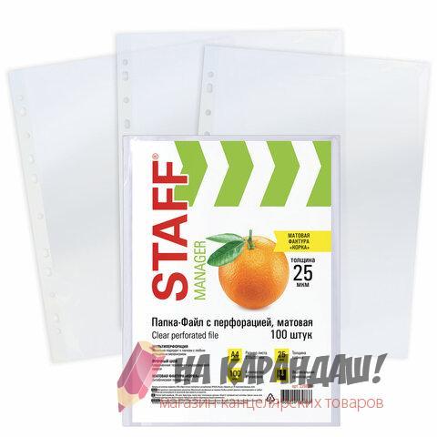 Файл А4 22-25мк глянц Staff Эконом 226828 /100/