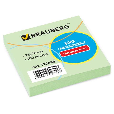 Стикер 76*76*100л Brauberg N зел 122696