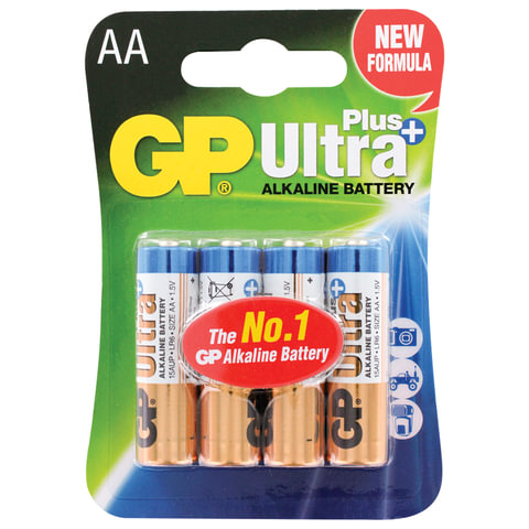 Батарейка GP Ultra Plus Alkaline AA LR06 4шт/уп 15AUP- 2CR4 454095