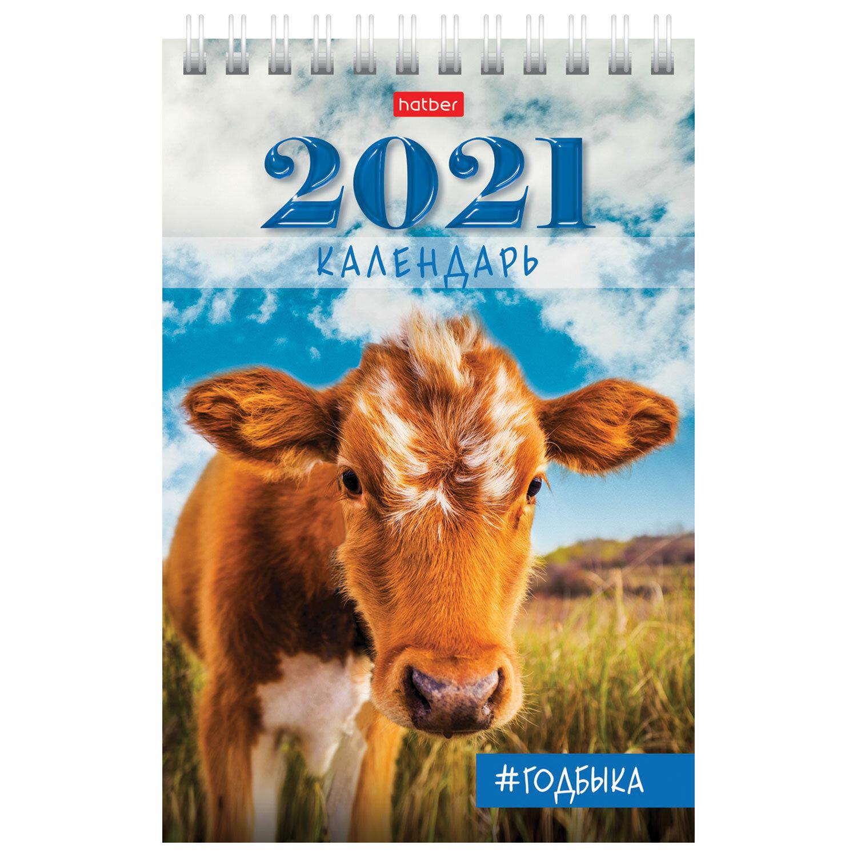 Календарь 2021 домик 105*160мм н/сп Hb_12КД6гр_23422 Год быка 112309