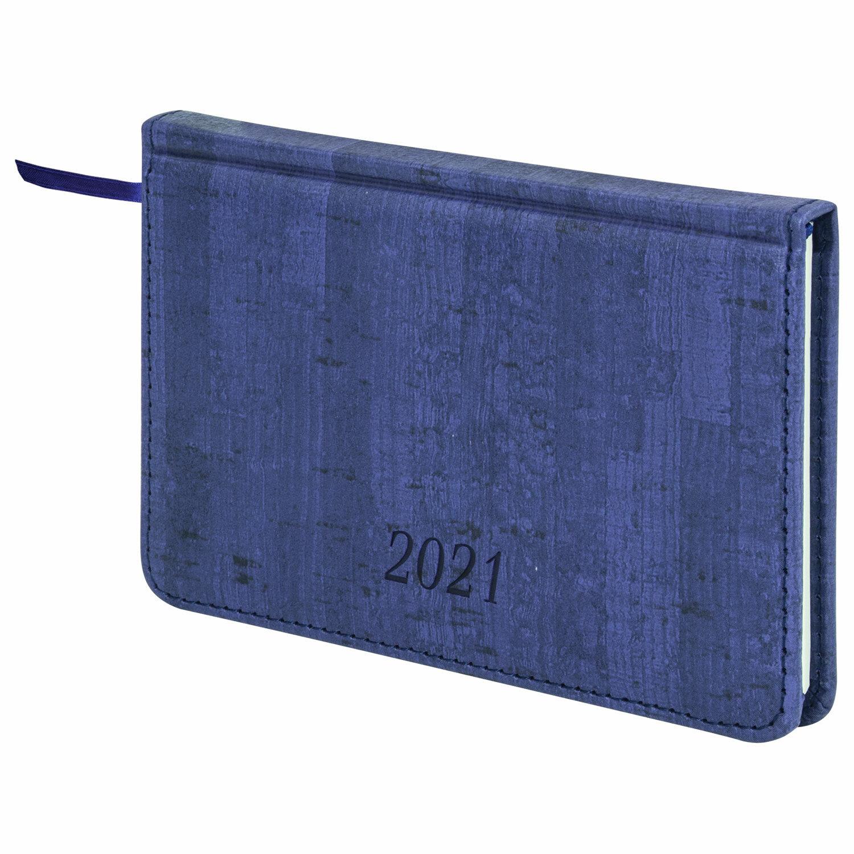 Еженед 2021 А6 64л Brauberg Wood синий 111557