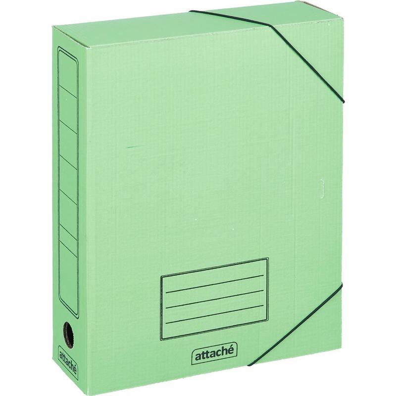 Бокс архив карт н/рез 75мм Attache 252x78x326мм 142056 ассорти