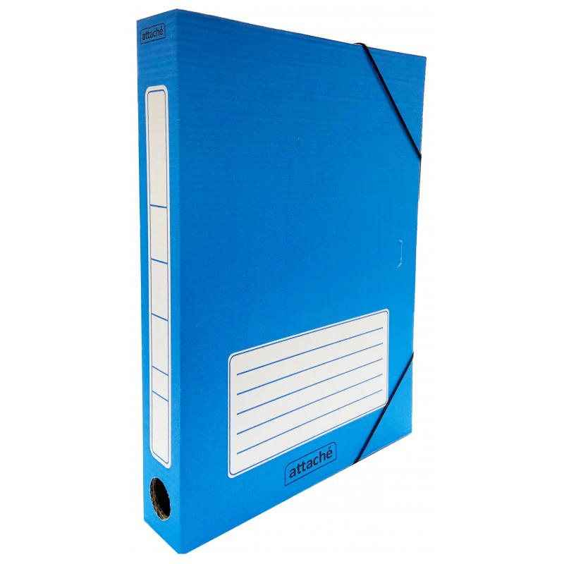 Бокс архив карт н/рез 45мм Attache 230х45х314мм 1185103 синий