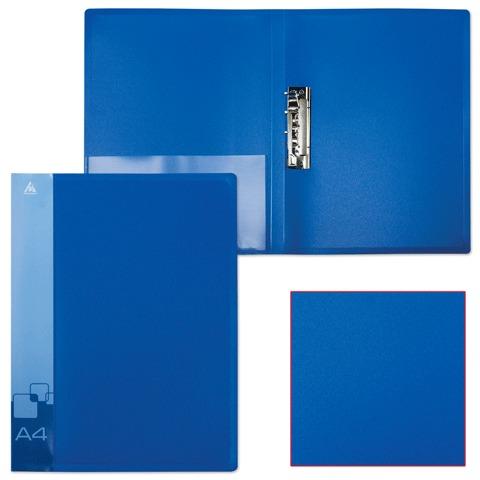 Папка 1-заж А4 с карм Бюрократ PZ07Cblue 15мм 700мк синяя