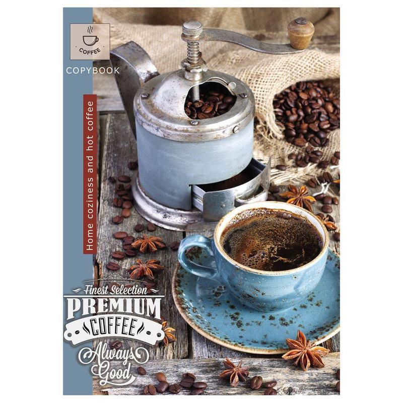 Тетрадь А4 96кл МП ПрофПресс 96-0589 Крепкий кофе